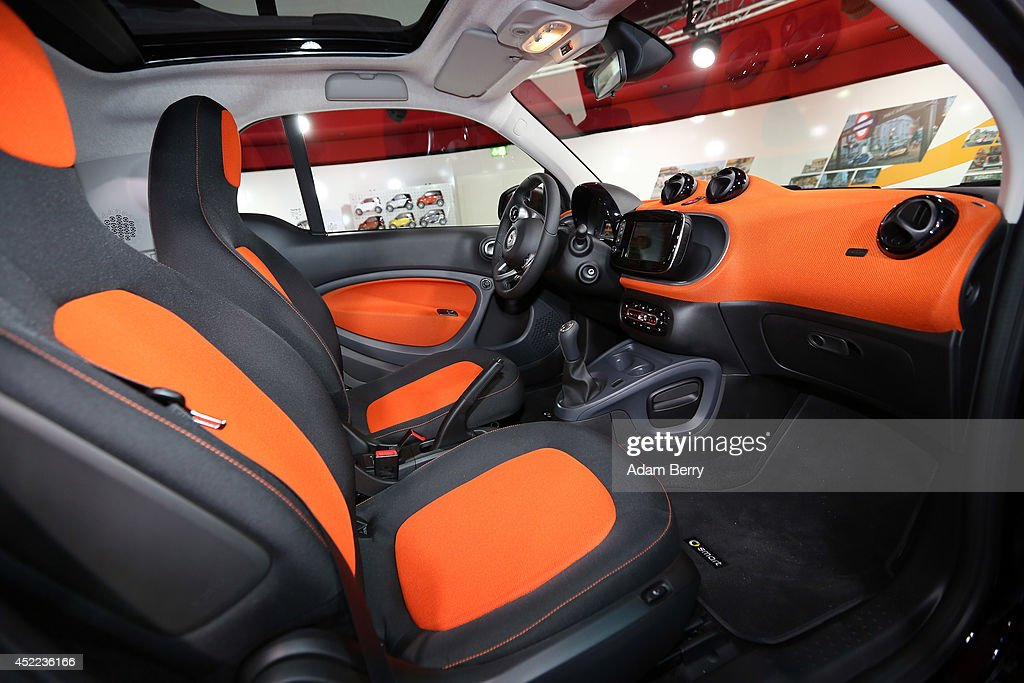The Interior Of A Smart Fortwo Car Is