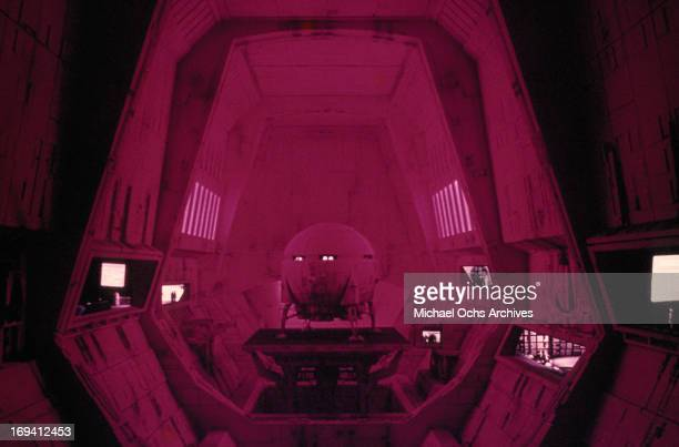 The interior of a space craft in a scene from the film '2001 A Space Odyssey' 1968