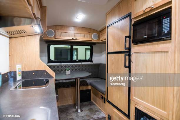 The interior of a trailer on the sales floor at Escape Trailer Industries in Chilliwack, British Columbia, Canada, on Thursday, Sept. 10, 2020. With...