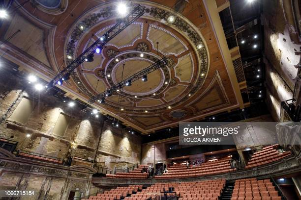 The interior of Alexandra Palace Theatre, now open to the public for the first time in 80 years, is pictured in London on November 30 during a media...