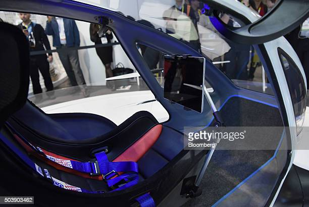 The interior of an EHang 184 passengercarrying drone is seen during the 2016 Consumer Electronics Show in Las Vegas Nevada US on Thursday Jan 7 2016...