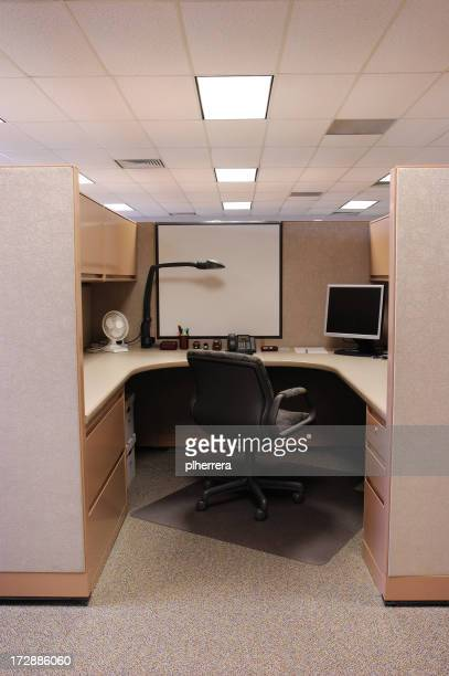 The interior of an office cubicle