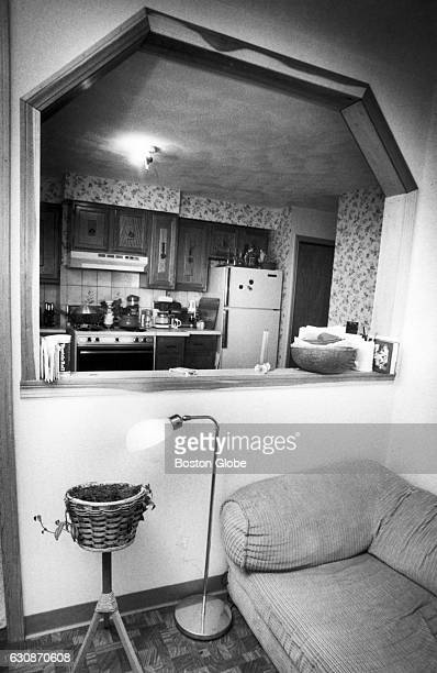 The interior of Carleen Borges's apartment in Boston's North End has a living room that looks into the kitchen seen on June 11 1986 At the time...