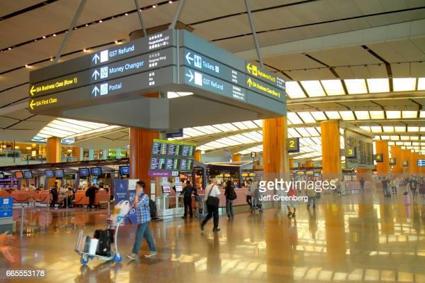 The interior of Changi International Airport