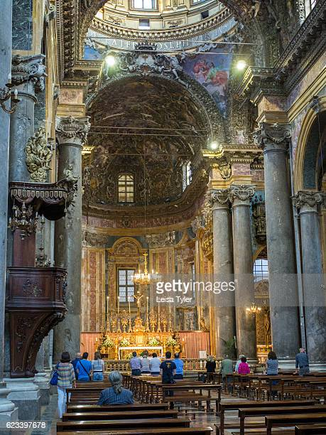The interior of Chiesa di San Giuseppe dei Teatini a church in Palermo considered is considered an outstanding examples of the Sicilian Baroque