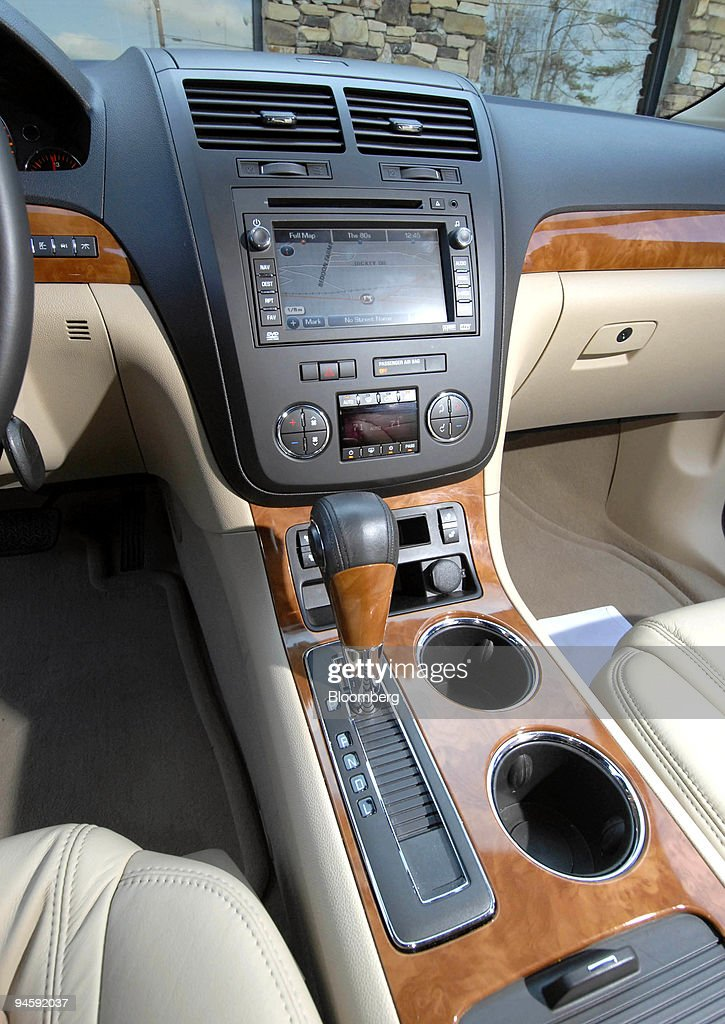The Interior Of General Motor Co S Saturn Outlook Crossover Vehicle