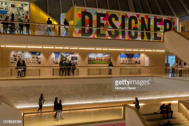 The interior of Kensington's Design Museum, on 6th January 2019, in London UK.