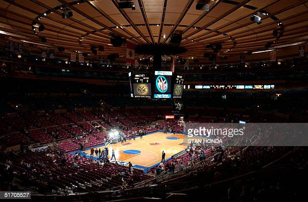 The interior of Madison Square Garden in New York on 13 February before a New York Knicks-Toronto Raptors basketball game. AFP PHOTO/Stan HONDA