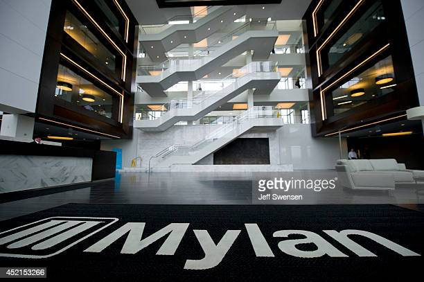 The Interior of Mylan headquarters is seen July 14 2014 in Canonsburg Pennsylvania The generic drugmaker Mylan is buying Abbott Laboratories'...