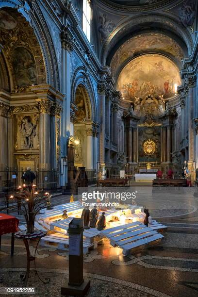 the interior of phillipine church with a theme from the bible. - emreturanphoto stock pictures, royalty-free photos & images