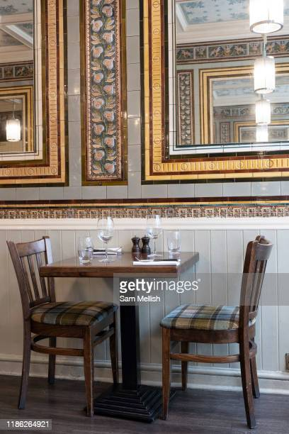 The interior of Rowley's steak House on the 7th October 2019 in London in the United Kingdom