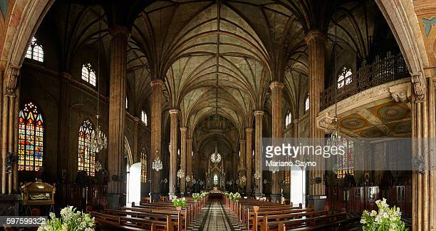 the interior of san sebastian church - social history stock pictures, royalty-free photos & images