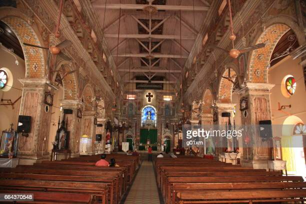 The interior of Santa Cruz Cathedral Basilica at Fort Cochin