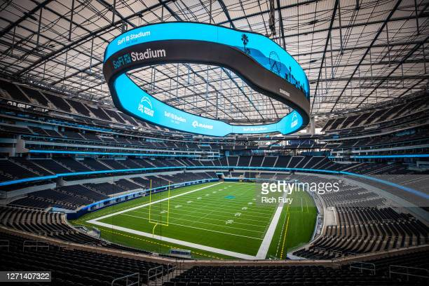 The interior of SoFi Stadium is seen following a ribbon-cutting event on September 08, 2020 in Inglewood, California.
