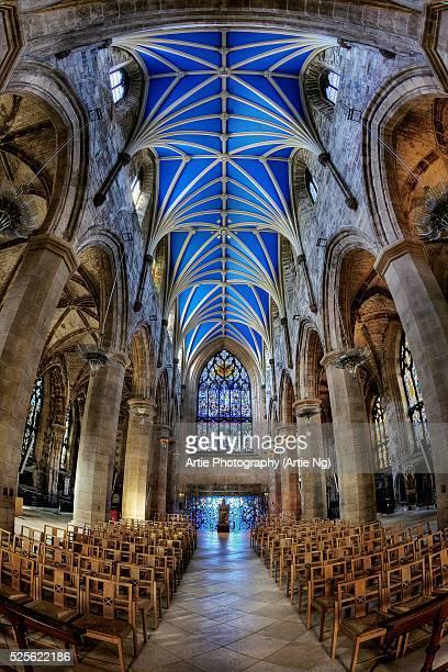the interior of st giles' cathedral, edinburgh, scotland, united kingdom - edinburgh scotland stock-fotos und bilder