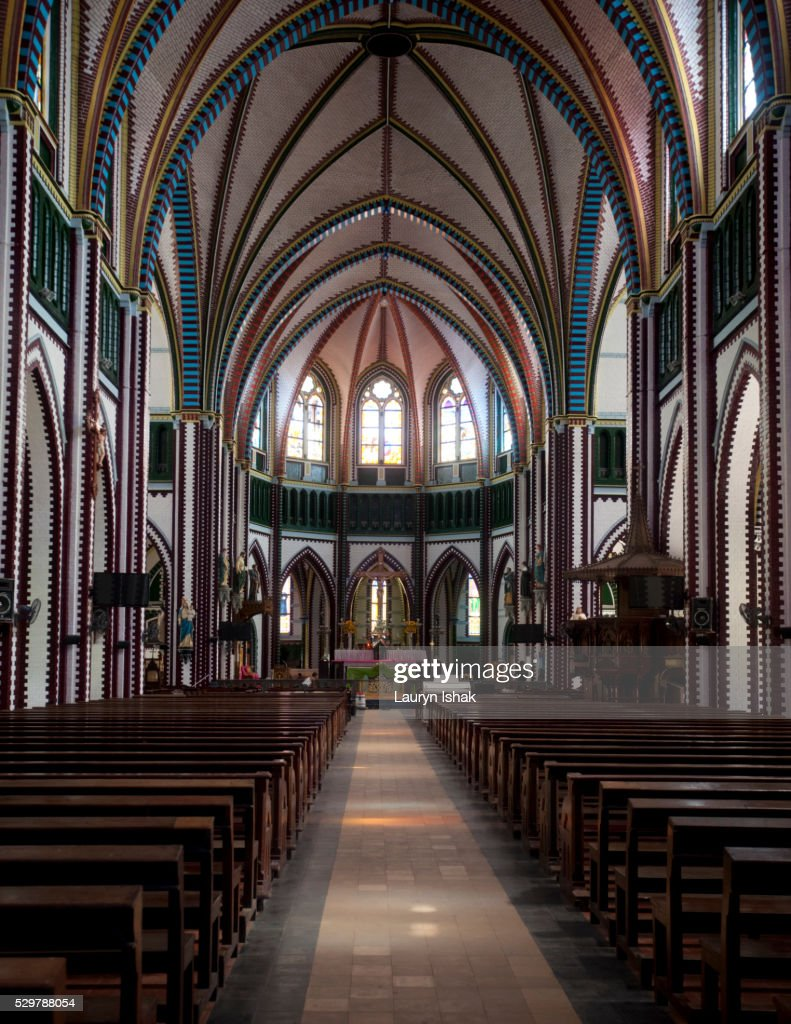 The interior of St. Mary's Cathedral, Yangon, Myanmar : Stock Photo