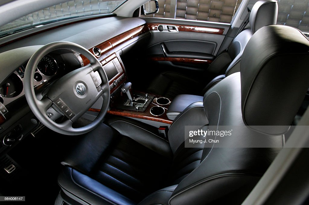 The Interior Of The 12 Cylinder Vw Phaeton Receives Leather