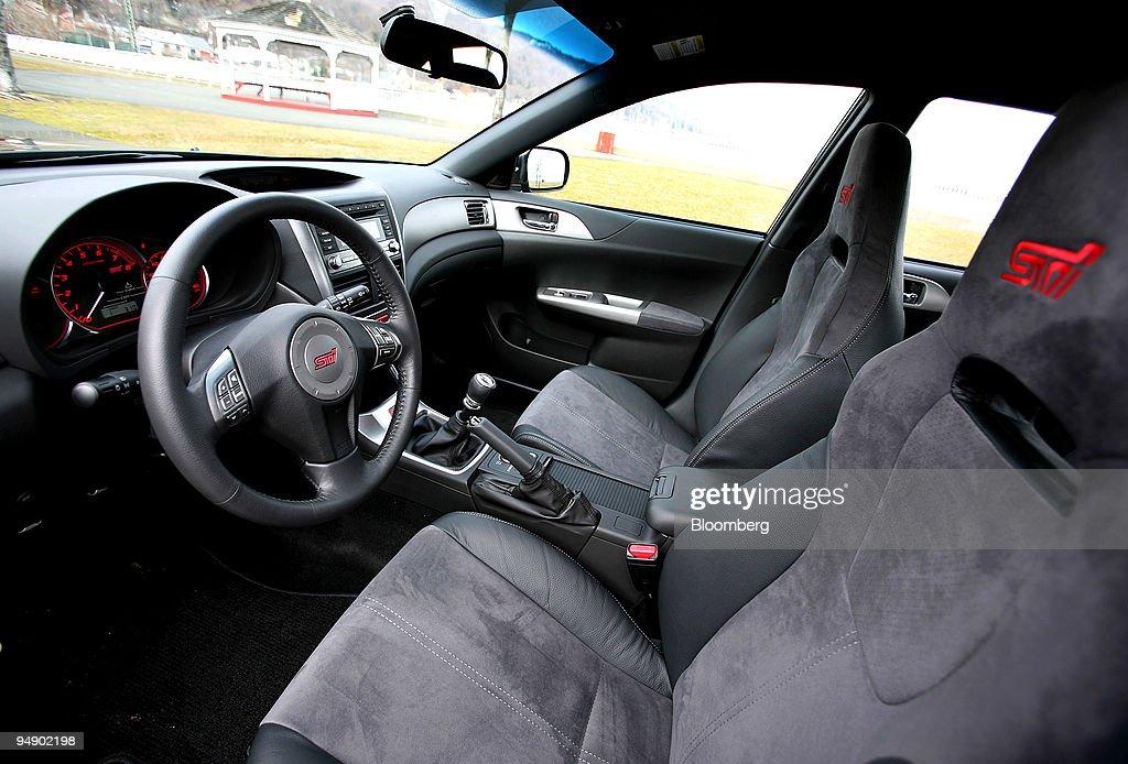 The Interior Of The 2008 Subaru Impreza Wrx Sti Is Photographed Near