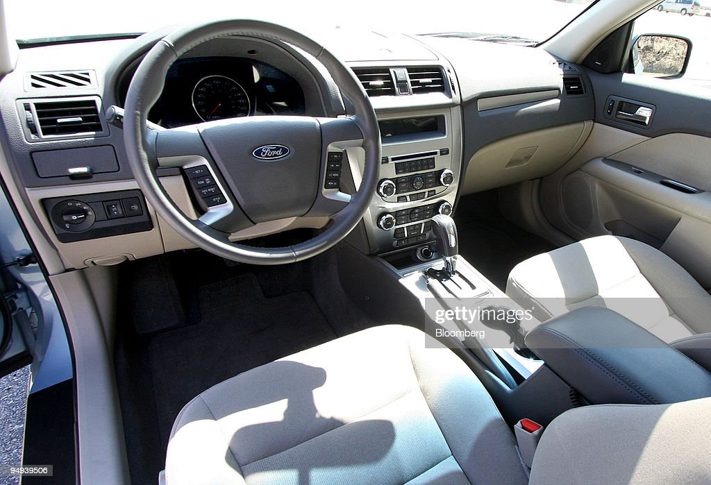 The Interior Of 2010 Ford Motor Co Fusion Hybrid Is See News Photo