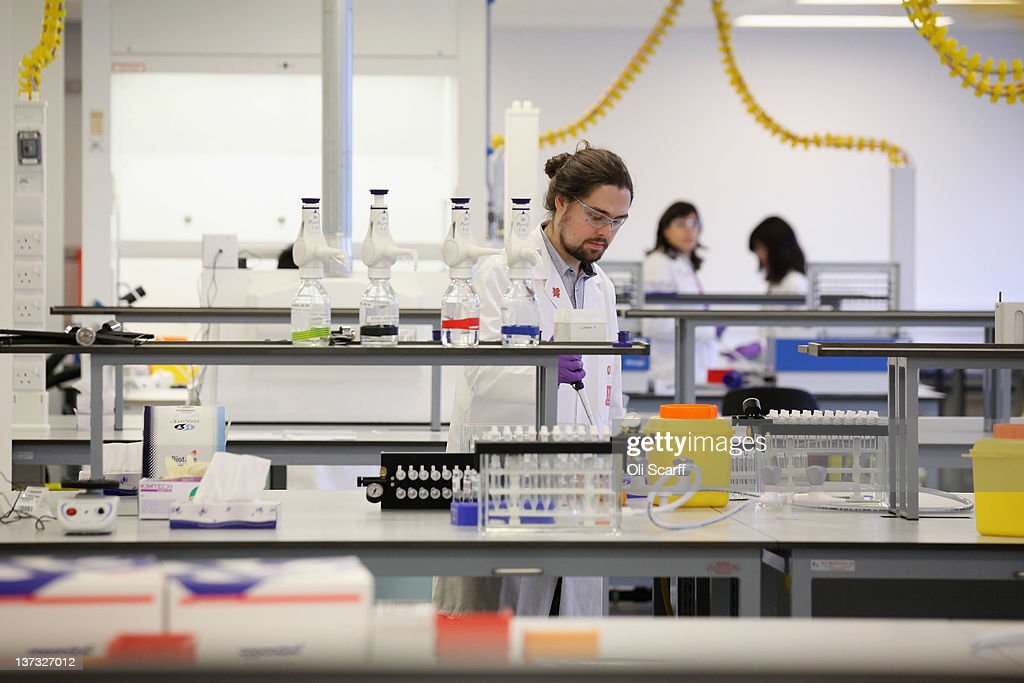 The interior of the anti-doping laboratory which will test athlete's samples from the London 2012 Games on January 19, 2012 in Harlow, England. The facility, which will be provided by GSK and operated by King's College London, will test over 6250 samples throughout the Olympic and Paralympic Games. Over 150 anti-doping scientists will work in the laboratory, which measures the size of seven tennis courts, 24 hours a day.