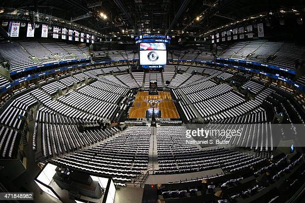 The interior of the arena before Game Six of the Eastern Conference Quarterfinals between the Atlanta Hawks and the Brooklyn Nets during the 2015 NBA...