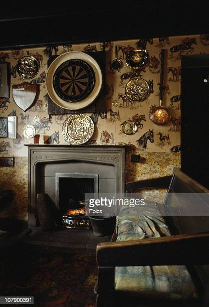 The interior of the Birch Hall Inn pub is decorated in traditional fashion with brassware and welcomes drinkers with an open fire Goathland North...