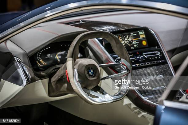 The interior of the BMW Concept 8series as on display at the 2017 Frankfurt Auto Show 'Internationale Automobil Ausstellung' on September 13 2017 in...