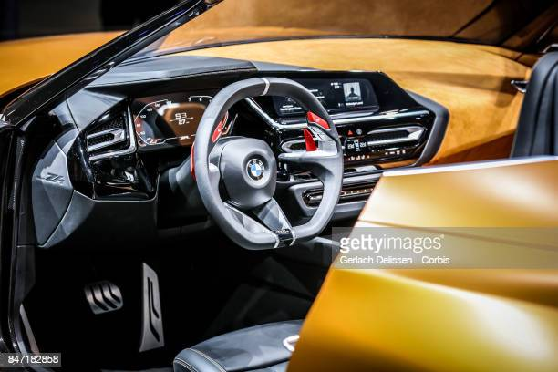 The interior of the BMW Concept Z4 as on display at the 2017 Frankfurt Auto Show 'Internationale Automobil Ausstellung' on September 13 2017 in...