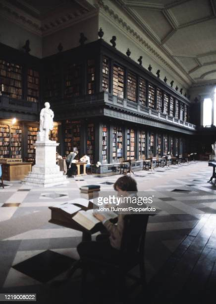 The interior of the Bodlian library at Oxford in England circa May 1978
