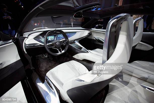 The interior of the Buick Avista Concept is shown at the Buick reveal on the eve of the 2016 North American International Auto Show January 10th 2016...