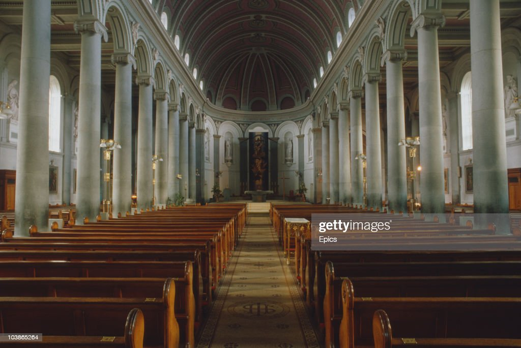 The interior of the Cathedral Church Of St Mel, Longford, Ireland, circa 1995.