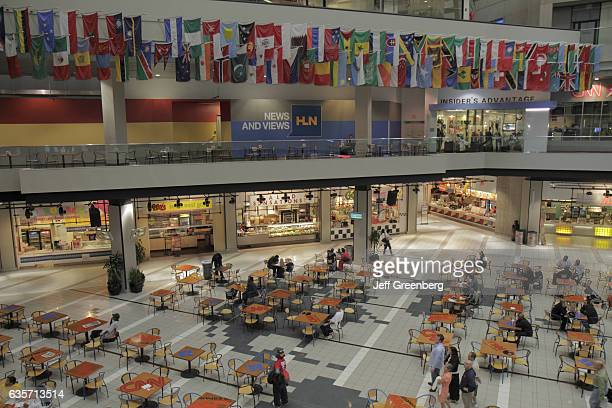 The interior of the CNN Center