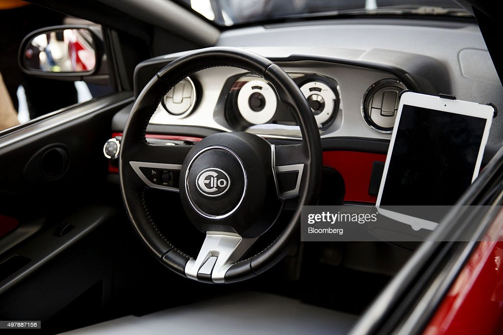 The Interior Of The Elio Motors P5 Prototype Vehicle Is Seen During The Los  Angeles Auto