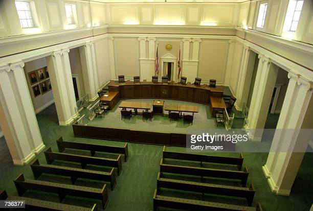 The interior of the Florida Supreme Court sits empty November 15 2000 in Tallahassee FL The members of the Florida Supreme Court are RFred Lewis...