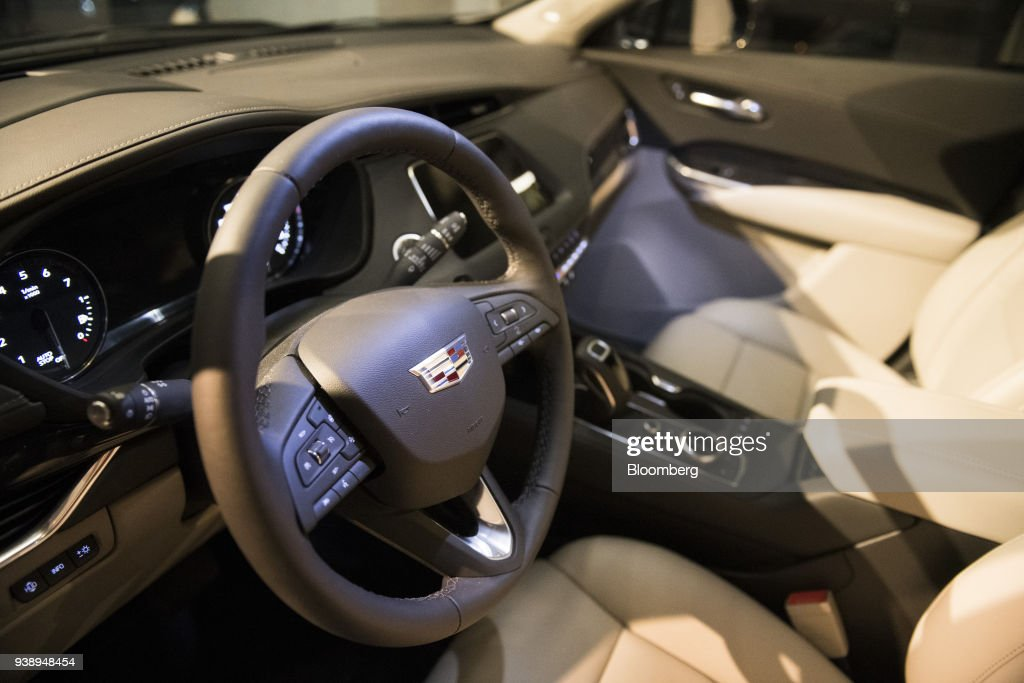 The Interior Of The General Motors Co Cadillac Xt4 Sports Utility
