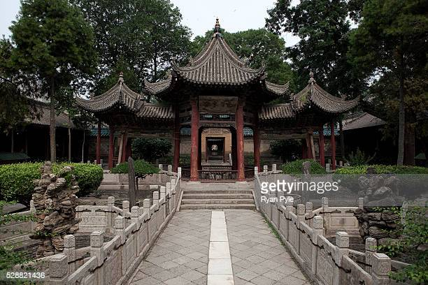 The interior of the Grand Mosque complex in the Muslim Quarter in Xian China The Grand Mosque is the only mosque in China that is built in a...
