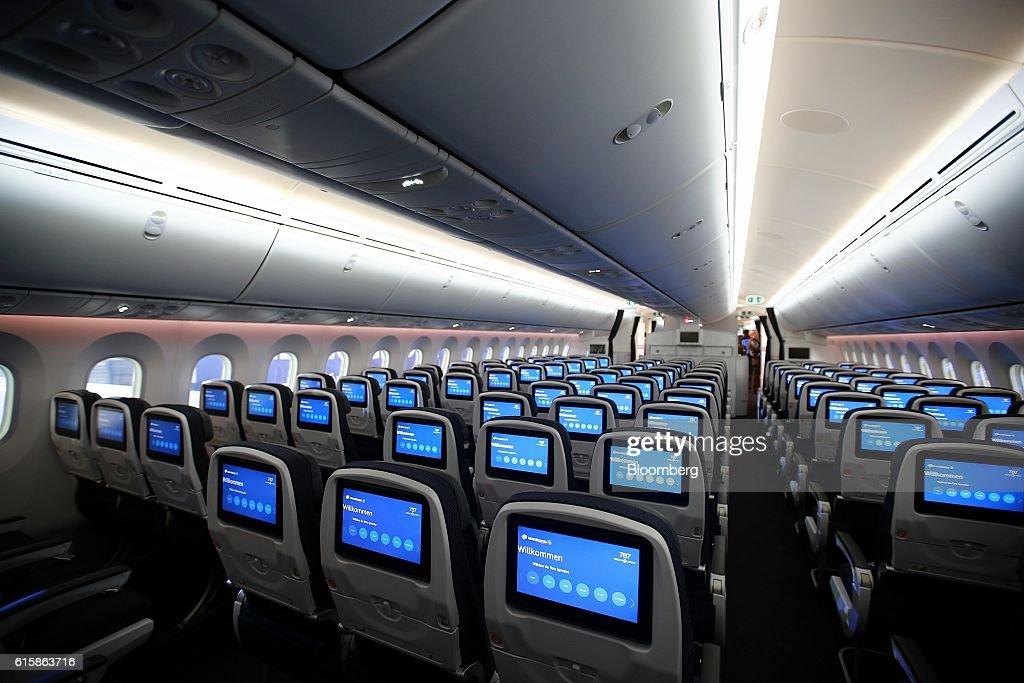 The interior of the Grupo Aeromexico SAB Quetzalcoatl Boeing 787-9