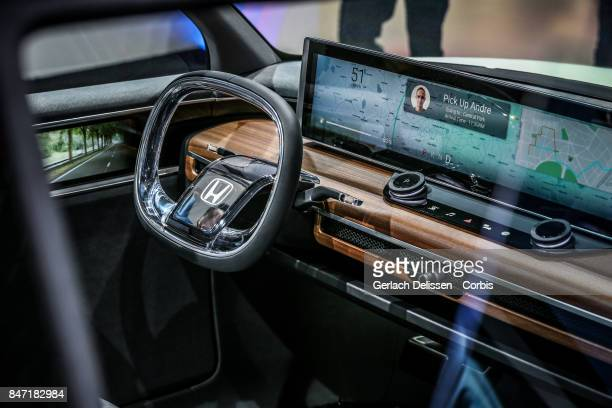 The interior of the Honda EV as on display at the 2017 Frankfurt Auto Show 'Internationale Automobil Ausstellung' on September 13 2017 in Frankfurt...