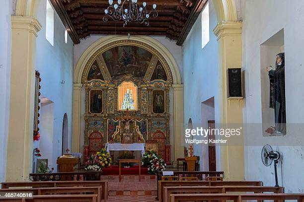 The interior of the Jesuit Mission built in 1697 in Loreto in Baja California Mexico