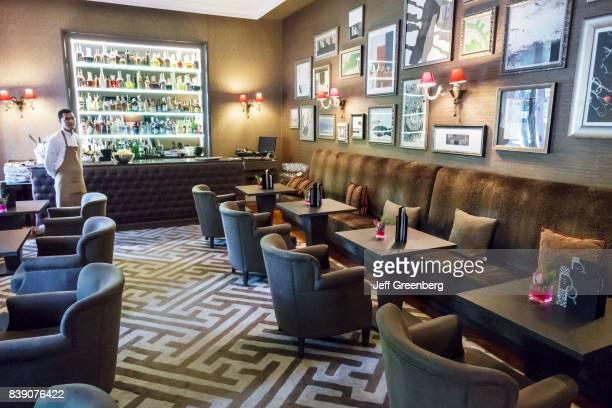 The interior of the lounge bar at the AC Palacio Del Retiro Autograph Collection hotel