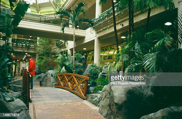 The interior of the MetroCentre shopping centre in Gateshead UK March 1988