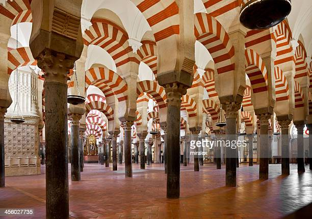 The interior of the Mosque Cathedral of Cardoba in Spain