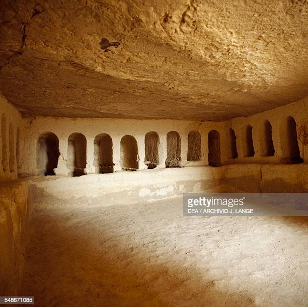 The interior of the Nabataean Tomb II near the ancient Nabataean city of Avdat on the Incense Route Negev Desert Israel