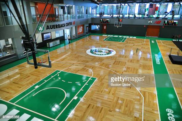 The interior of the new Boston Celtics practice facility named the Auerbach Center is pictured in the Brighton neighborhood of Boston on June 19 2018...