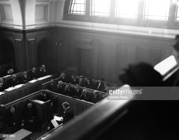 The interior of the Old Bailey London