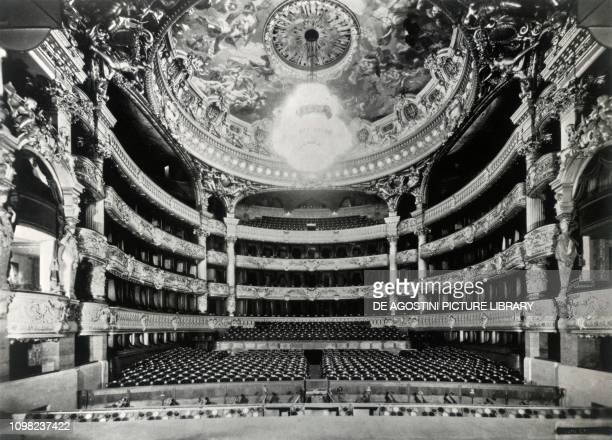 The interior of the Opera Garnier in Paris at the beginning of the 20th century France