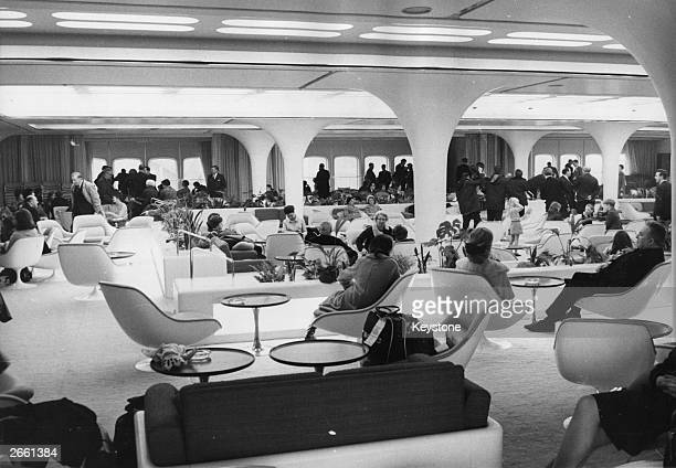 The interior of the 'Queen's Room' on the QE2 liner