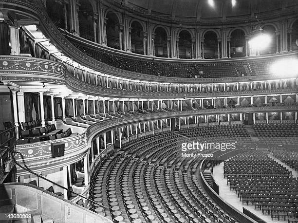 The interior of the Royal Albert Hall in London 12th May 1950