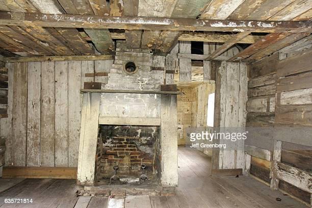 The interior of the slave quarters at Magnolia Plantation and Gardens