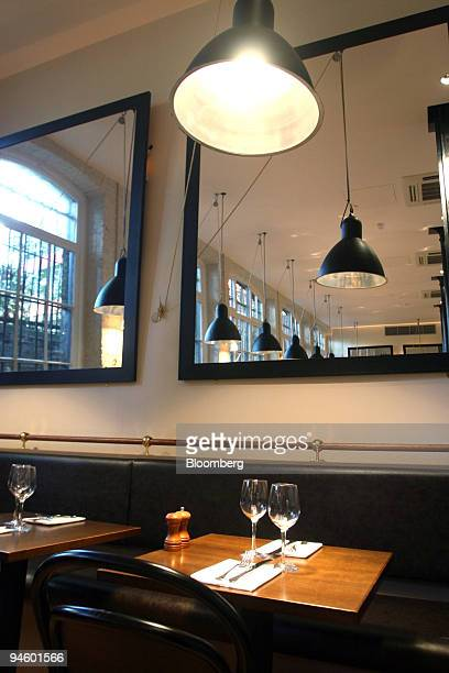 The interior of the St Germain restaurant is seen in London UK on Thursday November 2 2006 St Germain a new establishment in Clerkenwell next to...